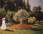 Клод Моне - Jeanne-Margueritte in the Garden