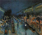 Камиль Писсаро - Boulevard Montmartre in the Night